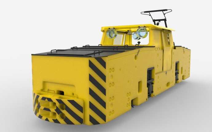 Electric locomotive, contact K-14