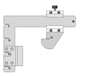 Шаблон измерения ж.д. колеса железнодорожный производства НПО МИНЭТЭК