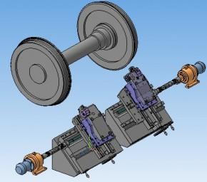 Станок колесотокарный А-41РНФ производства НПО МИНЭТЭК