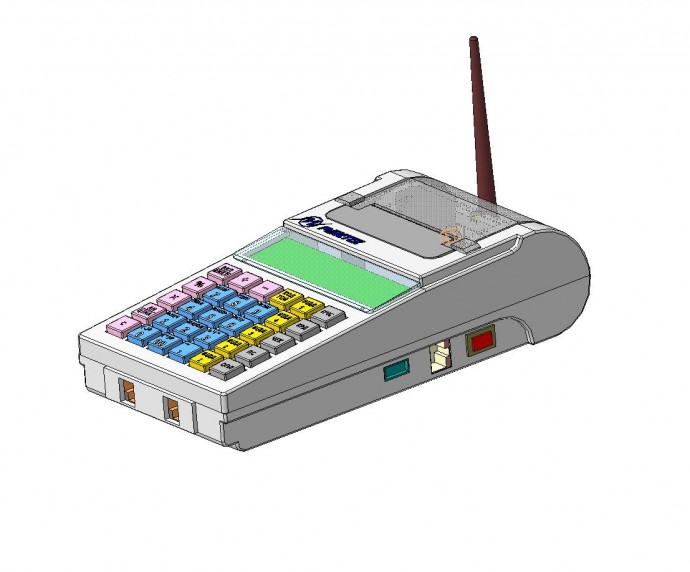 Mobile payment terminal / cash register housing