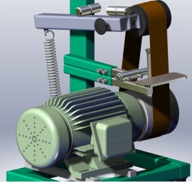 Belt-grinding devices and machine tools 2