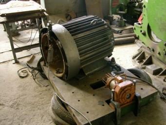 Виброобработка корпуса электродвигателя