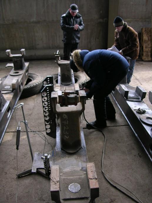 Вибрационная стабилизация остаточных напряжений рам тележек локомотивов на Луганском тепловозостроительном заводе
